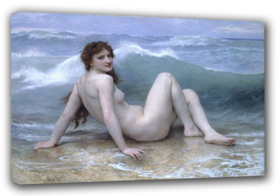 Bouguereau, William Adolphe: The Wave. Fine Art Canvas. Sizes: A3/A2/A1 (00440)